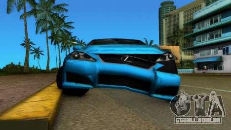 Lexus IS-F para GTA Vice City vista interior