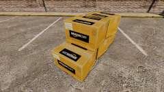 Novos logotipos em caixas