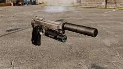 Pistola semi-automática Beretta 92 com silenciad