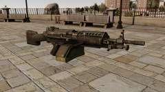A metralhadora M249 luz