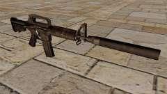 Carabina M4 SMG com silenciador