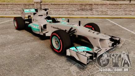 Mercedes AMG F1 W04 v6 para GTA 4