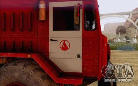 MAZ 535 bombeiro para GTA San Andreas vista direita