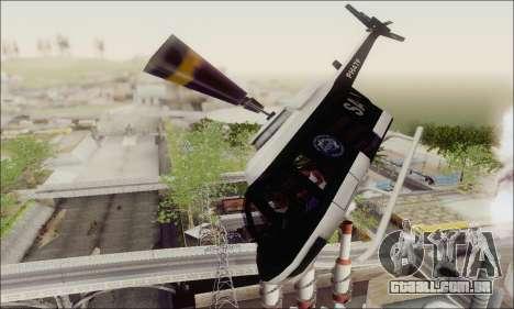 Police Maverick para GTA San Andreas vista interior