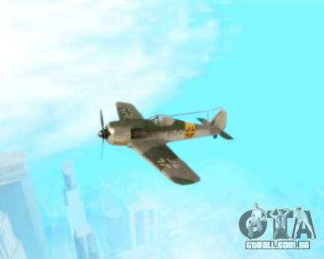 Focke-Wulf FW-190 F-8 para GTA San Andreas vista interior