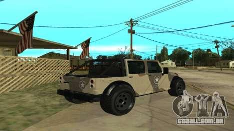 Crusader GTA 5 para GTA San Andreas vista direita