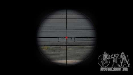 Rifle sniper intervenção CheyTac para GTA 4 por diante tela