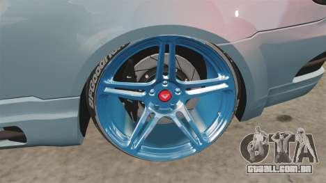 BMW M3 GTS Widebody para GTA 4 vista de volta