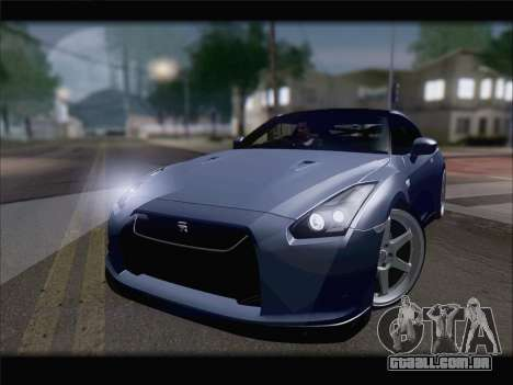 Nissan GT-R Spec V Stance para GTA San Andreas vista direita
