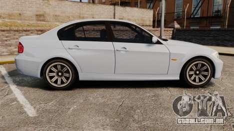 BMW 330i Unmarked Police [ELS] para GTA 4 esquerda vista