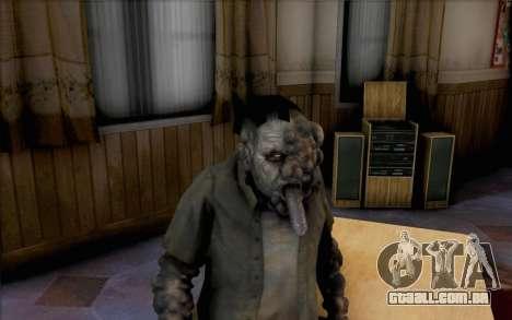 Left 4 Dead fumante para GTA San Andreas terceira tela
