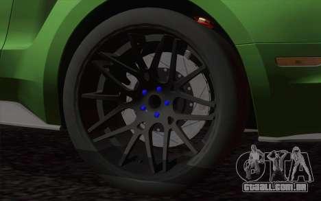 Ford Mustang GT 2013 para GTA San Andreas traseira esquerda vista