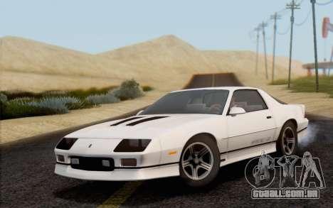 Chevrolet Camaro IROC-Z 1990 para GTA San Andreas vista direita