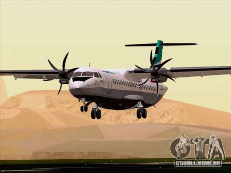 ATR 72-500 WestJet Airlines para GTA San Andreas vista inferior