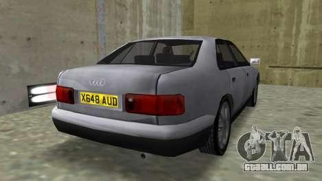 Audi A8 VCM para GTA Vice City deixou vista