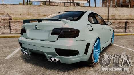 BMW M3 GTS Widebody para GTA 4 traseira esquerda vista