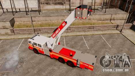 MTL Firetruck Tower Ladder [ELS-EPM] para GTA 4 vista de volta