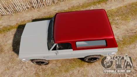 Chevrolet K5 Blazer para GTA 4 vista direita