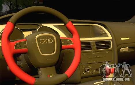 Audi S5 para GTA San Andreas vista interior