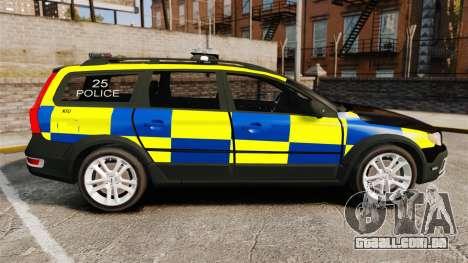 Volvo XC70 Police [ELS] para GTA 4 esquerda vista