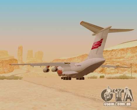 Il-76td IlAvia para GTA San Andreas vista traseira