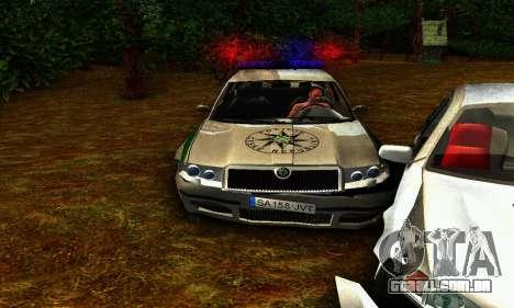 Skoda Superb POLICIE para GTA San Andreas vista interior