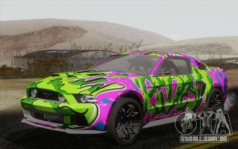 Ford Mustang GT 2013 para GTA San Andreas vista interior