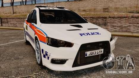 Mitsubishi Lancer Evo X Humberside Police [ELS] para GTA 4