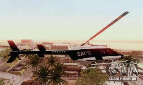 Police Maverick para GTA San Andreas esquerda vista