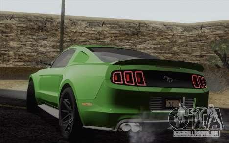 Ford Mustang GT 2013 para GTA San Andreas esquerda vista