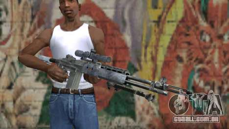 M14 EBR Blue Tiger para GTA San Andreas terceira tela