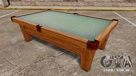 Nova mesa de bilhar para GTA 4