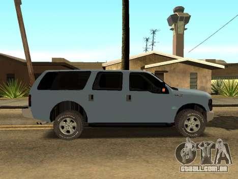 Ford Excursion para GTA San Andreas traseira esquerda vista