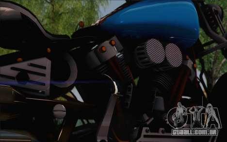 Harley-Davidson Knucklehead para GTA San Andreas traseira esquerda vista