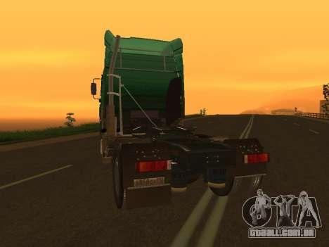 MAZ 5440 para GTA San Andreas traseira esquerda vista