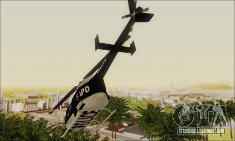 Police Maverick para GTA San Andreas vista direita