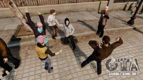 O Script-dança - para GTA 4 por diante tela