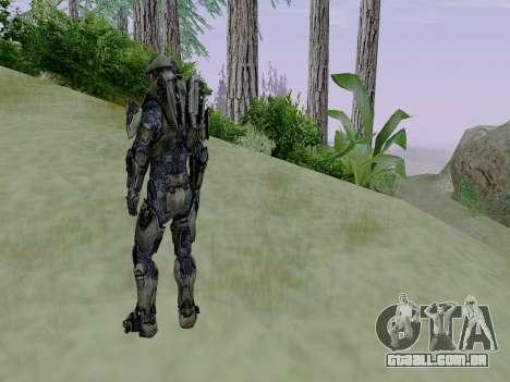 Master Chief para GTA San Andreas quinto tela