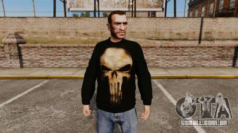 Camisola-The Punisher- para GTA 4