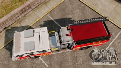 Firetruck LCFR [ELS] para GTA 4 vista direita