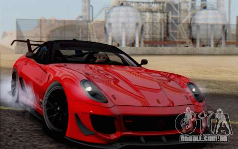 Ferrari 599XX Evolution para GTA San Andreas vista interior