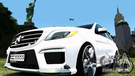 Mercedes-Benz ML63 AMG para GTA 4 traseira esquerda vista