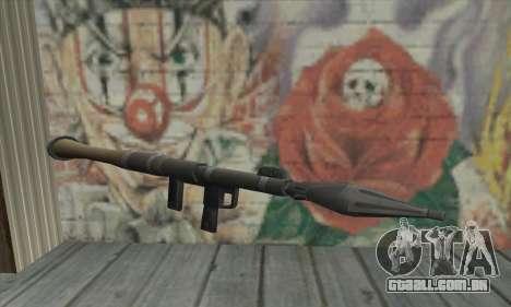 Lançador de míssil do Saints Row 2 para GTA San Andreas