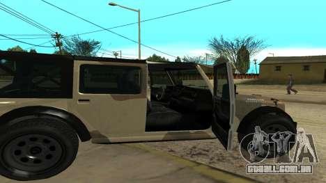 Crusader GTA 5 para GTA San Andreas traseira esquerda vista