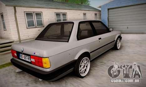 BMW M3 E30 para GTA San Andreas vista superior