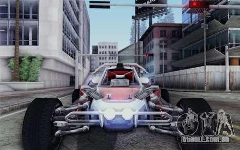 Buggy XCelerator XL para GTA San Andreas vista traseira