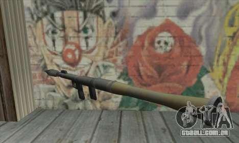 Lançador de míssil do Saints Row 2 para GTA San Andreas segunda tela