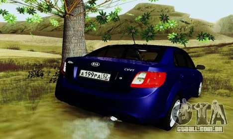 Kia Rio II 2009 para GTA San Andreas vista direita