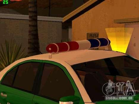 Mercedes-Benz  E500 Polizei para GTA San Andreas vista traseira