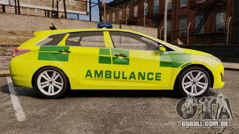Hyundai i40 Tourer [ELS] London Ambulance para GTA 4 esquerda vista